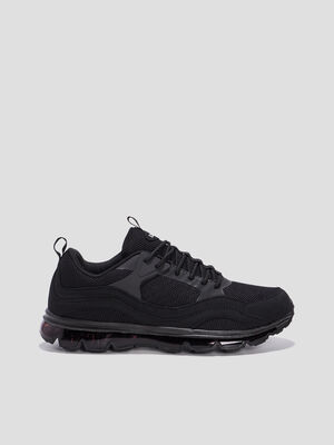 Baskets plates running noir homme