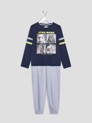 Ensemble pyjama Star Wars bleu marine garcon