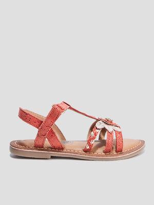 Sandales a detail bijou Creeks rouge fille