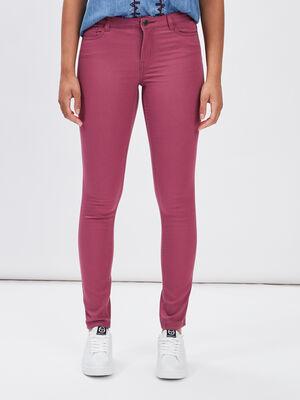Pantalon slim violet fonce femme