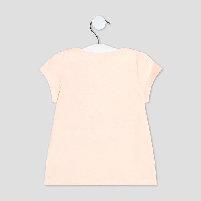 T-shirt manches courtes bébé fille orange fluo