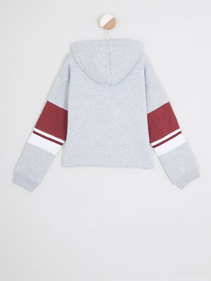 Sweatshirt a capuche Mickey gris fille