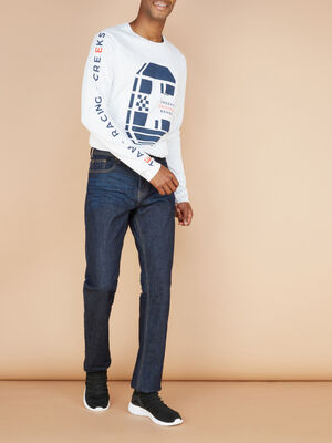 Jeans regular denim brut homme