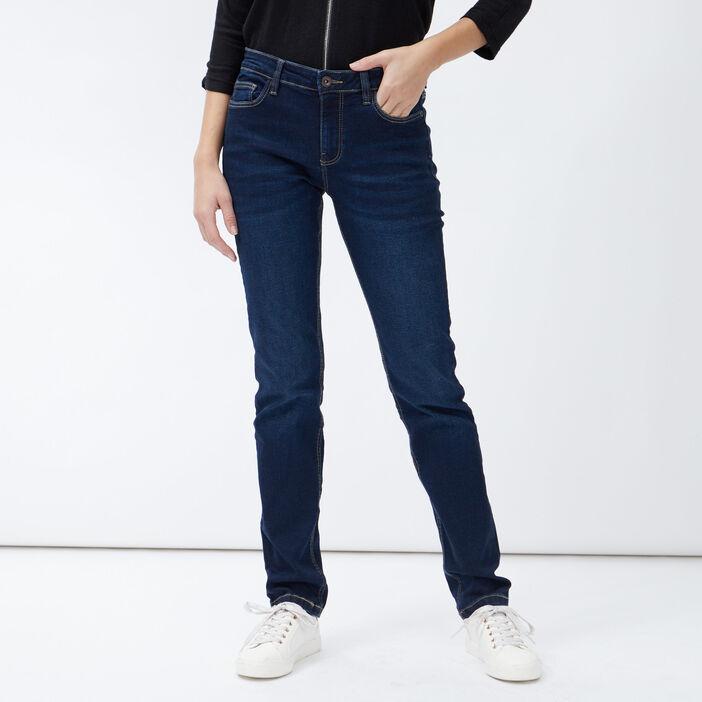 Jeans droit taille basse femme denim brut