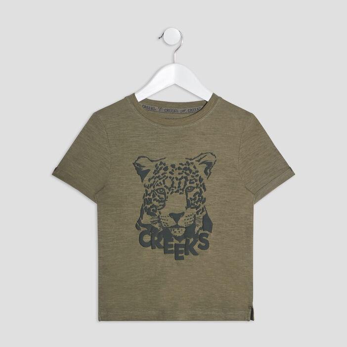 T-shirt manches courtes Creeks garçon vert kaki
