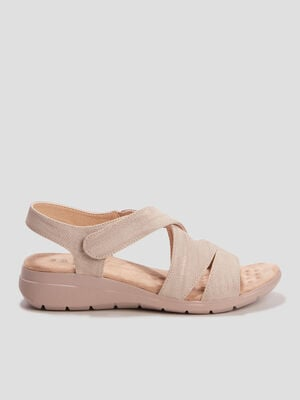 Sandales Walking Confort Plus beige femme