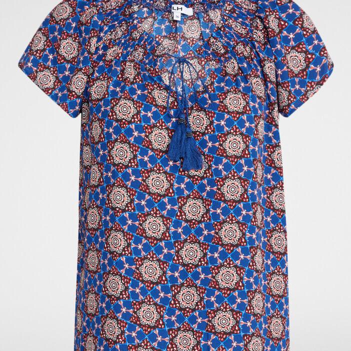 Chemise manches courtes femme multicolore