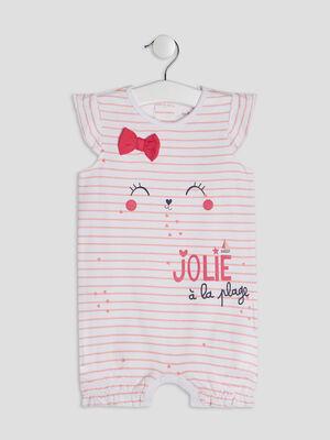 Pyjama dors bien rose clair bebe