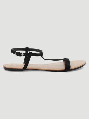 Sandales plates noir femme