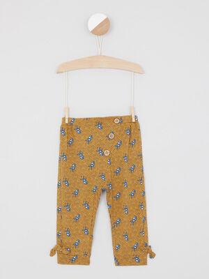 Pantalon imprime wax boutons decoratifs multicolore fille