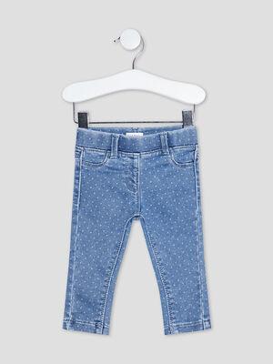 Jeans slim taille elastiquee denim double stone bebef