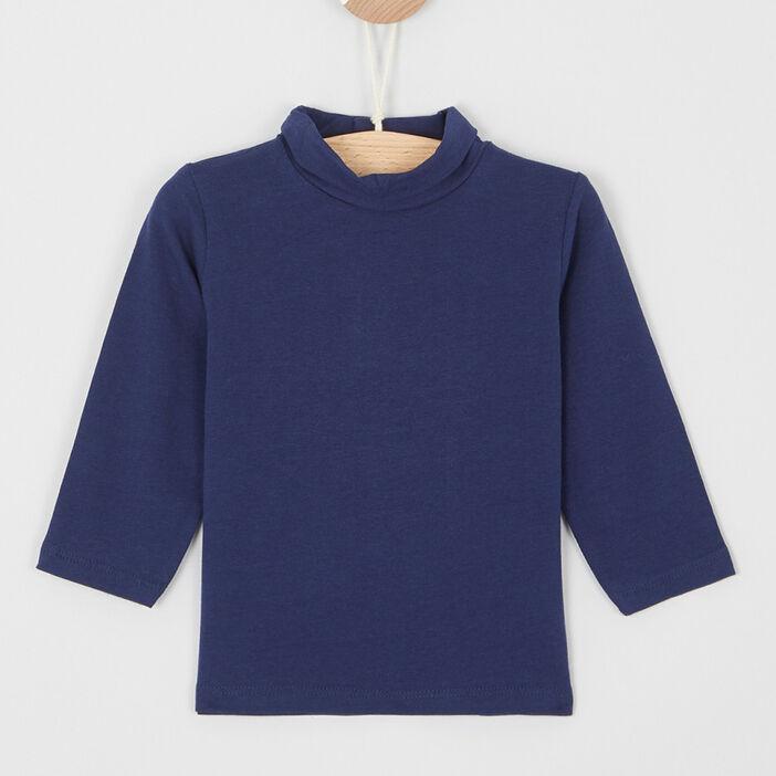 T-shirt col roulé coton majoritaire bébé garçon bleu marine