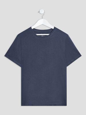 T shirt manches courtes bleu marine garcon