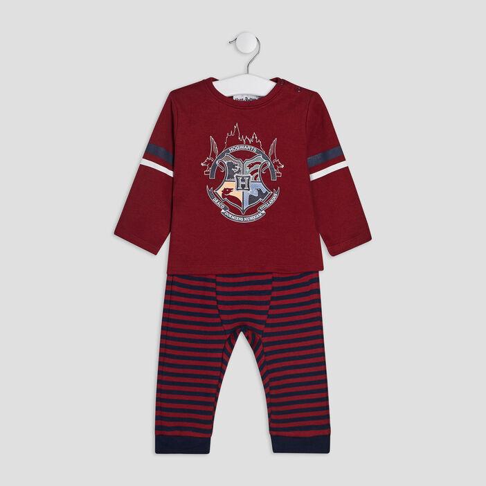 Pyjama 2 pièces Harry Potter bébé garçon bordeaux