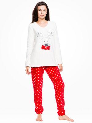Pyjama 2 pieces fantaisie rose fushia femme