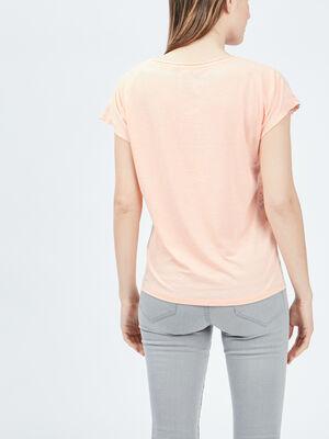 T shirt manches courtes Creeks orange corail femme