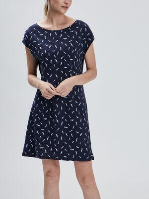 Chemise de nuit droite bleu marine femme