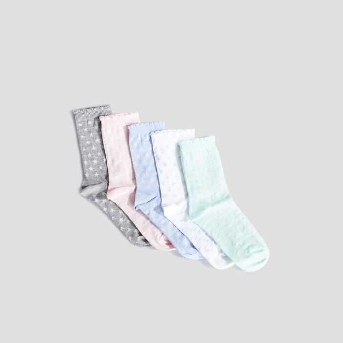 Chaussettes fille multicolore