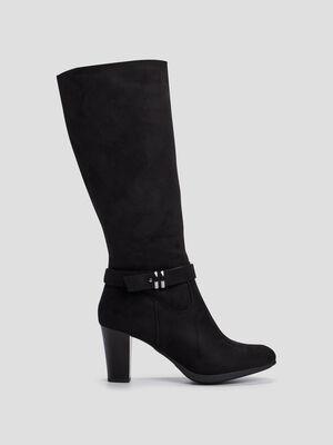 Bottes zippees Di Fontana noir femme
