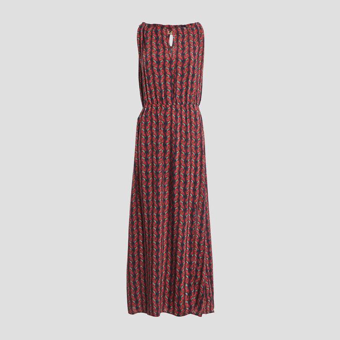 Robe longue évasée femme rouge