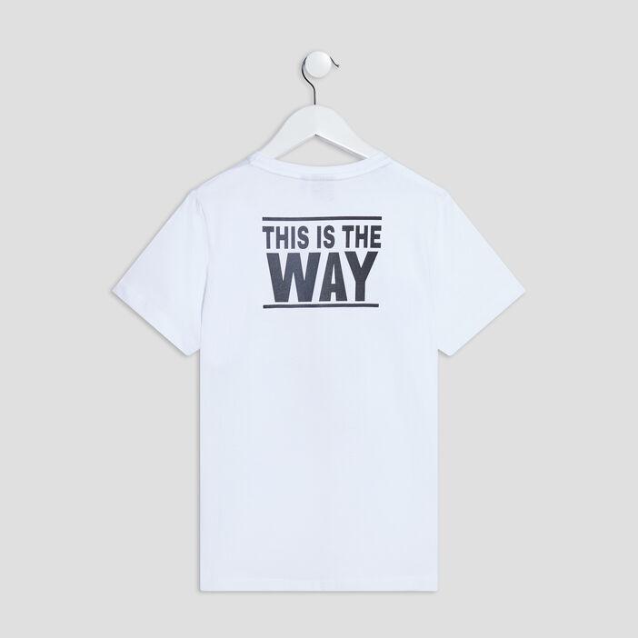 T-shirt The Mandalorian garçon blanc