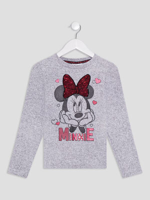 Pull Minnie gris fille