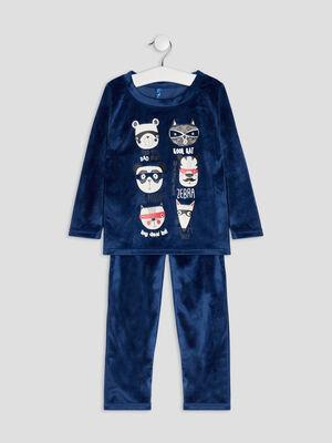 Ensemble pyjama 2 pieces bleu marine garcon