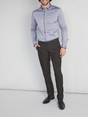 Pantalon de ville uni noir homme