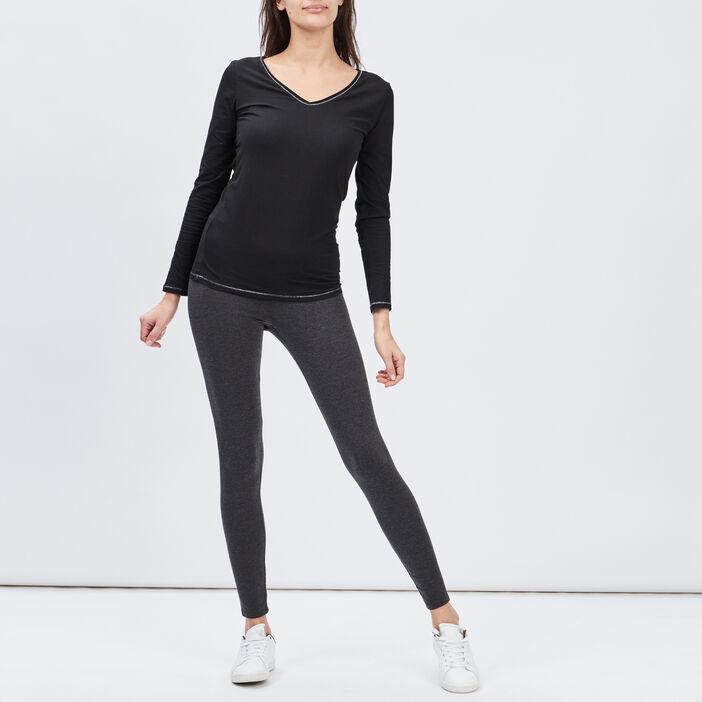 T-shirt manches longues femme noir