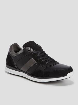Sneakers en cuir Creeks noir homme