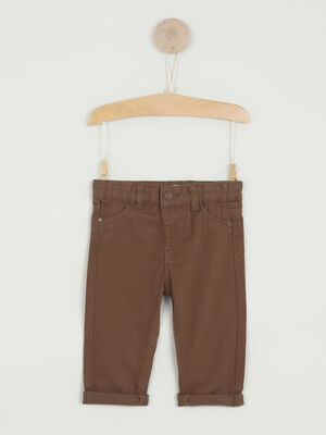 Pantalon uni coupe droite camel garcon