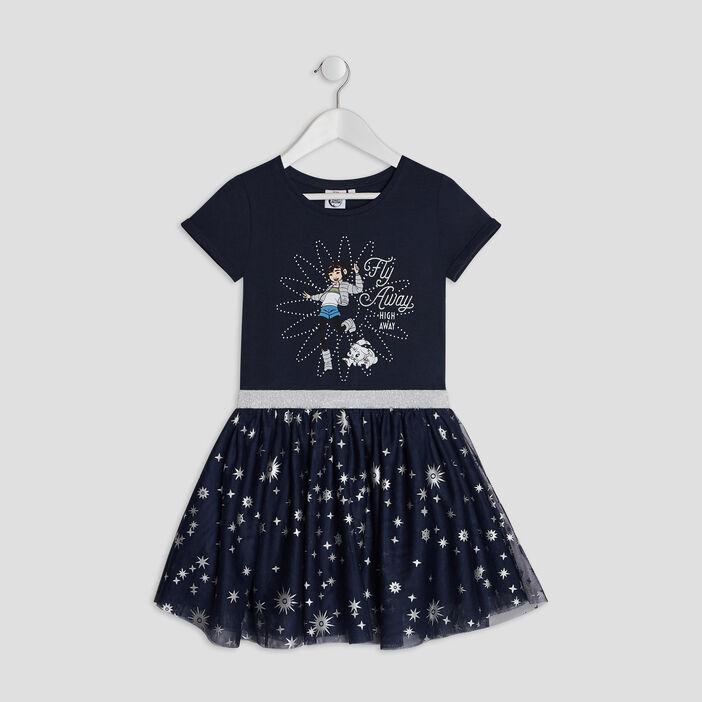 Robe Voyage vers la Lune fille bleu marine