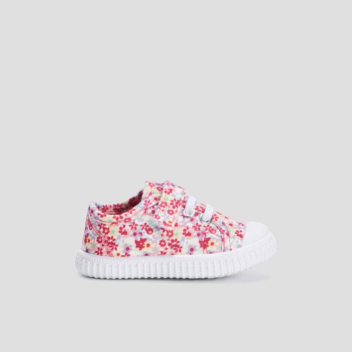 Tennis en toile bébé fille rose