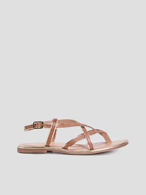 Sandales avec entre doigt marron femme