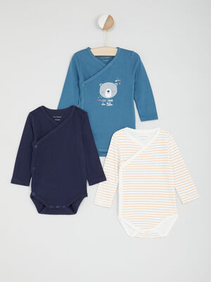 Lot de 3 bodies multicolore bebe