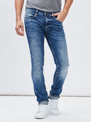 Jeans skinny Creeks denim bleach homme