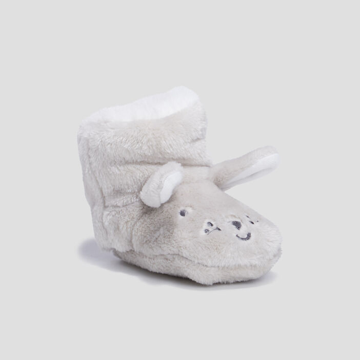 Chaussons bottines mixte gris