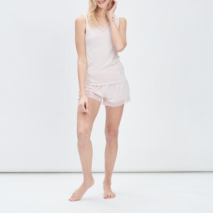 Haut de pyjama femme rose