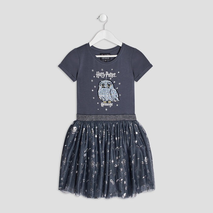Robe évasée Harry Potter fille gris