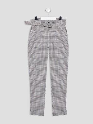 Pantalon paperbag gris fille
