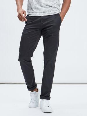 Pantalon straight gris fonce homme