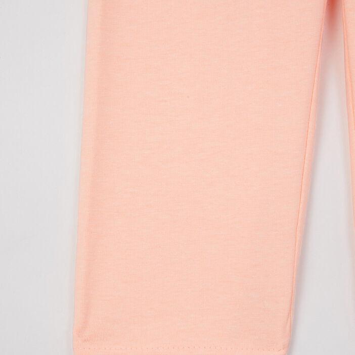Legging uni bas en dentelle fille orange fluo