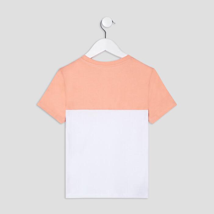 T-shirt manches courtes garçon orange corail