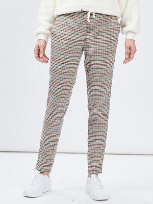 Pantalon droit taille standard multicolore femme