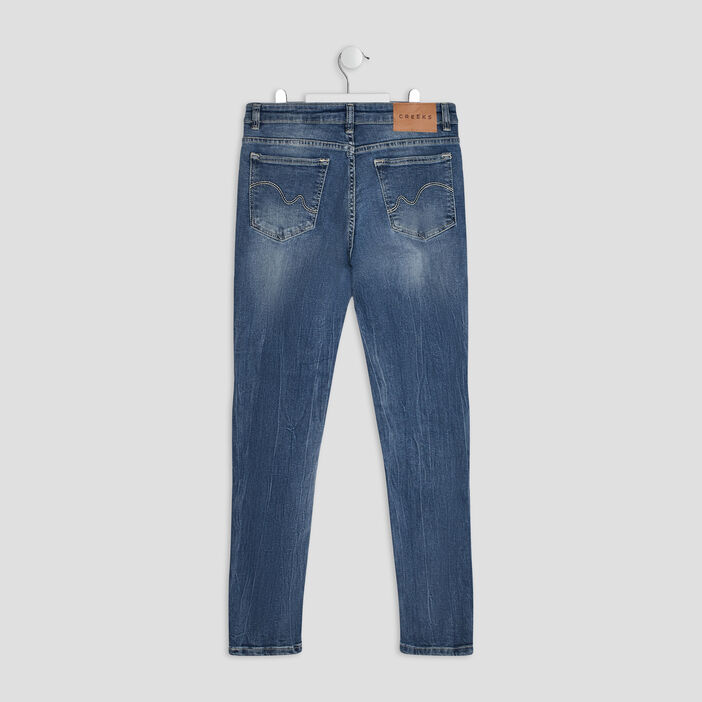 Jeans regular Creeks fille denim double stone