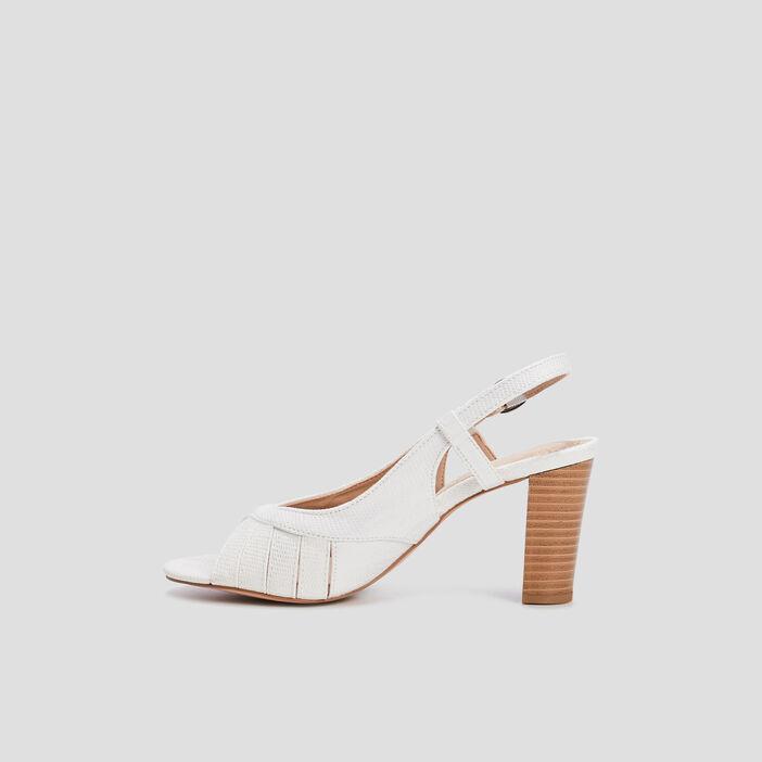 Sandales à talons femme blanc