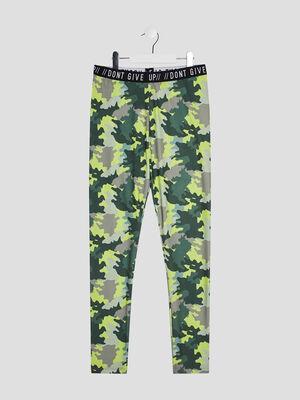 Pantalon legging vert kaki fille