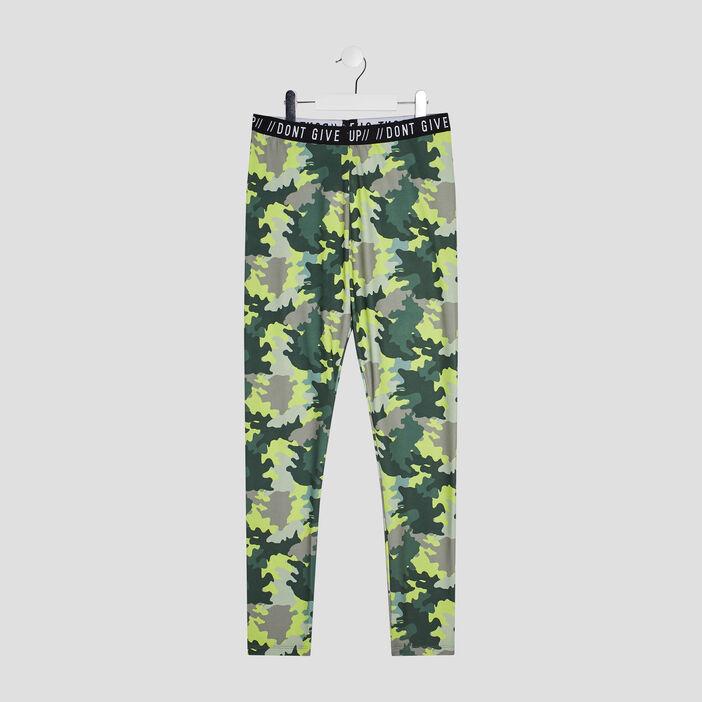 Pantalon legging fille vert kaki