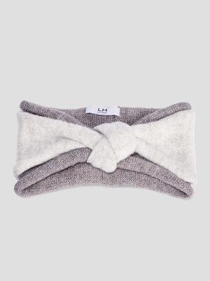 Bandeau tricote gris fonce femme
