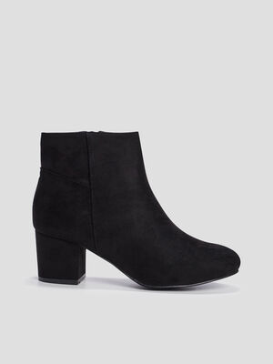 Bottines zippees noir femme